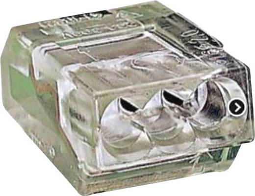 Dosenklemme starr: 1-2.5 mm² Polzahl: 3 WAGO 100 St. Transparent