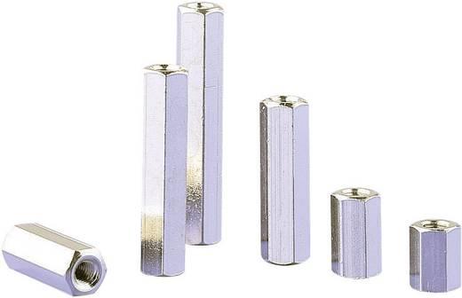 Abstandsbolzen 2 x Innengewinde M4 Messing Abstandsmaß 10 mm 6140/10 1 St.
