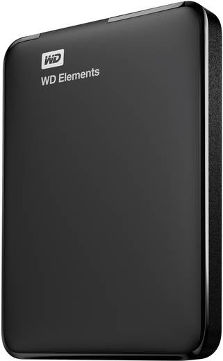 Externe Festplatte 6.35 cm (2.5 Zoll) 2 TB Western Digital Elements™ Schwarz USB 3.0