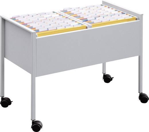 Durable Mappenboy doppelbahnig Economy/308210 B760xH592xT400 mm lichtgrau Metall