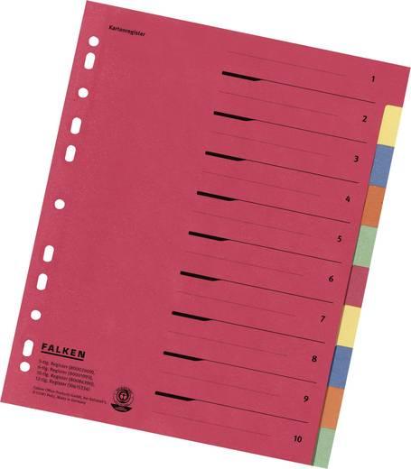Falken Kartonregister/80086390 240x297 mm 10-teilig 230 g/qm