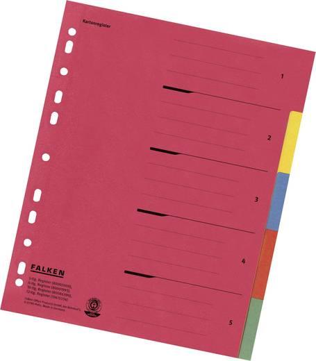 Falken Kartonregister/80002009 240x297 mm 5-teilig 230 g/qm