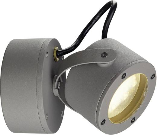 Außenwandleuchte Energiesparlampe, LED GX53 9 W SLV Sitra 360 231514 Grau