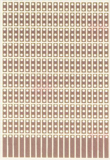 Experimentierplatine Epoxyd (L x B) 80 mm x 50 mm 35 µm Rastermaß 2.54 mm WR Rademacher WR-Typ 908-1 Inhalt 1 St.