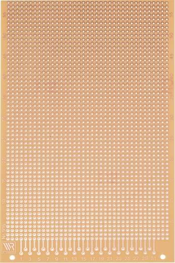 Experimentierplatine Hartpapier (L x B) 160 mm x 100 mm 35 µm Rastermaß 2.54 mm WR Rademacher WR-Typ 916 Inhalt 1 St.