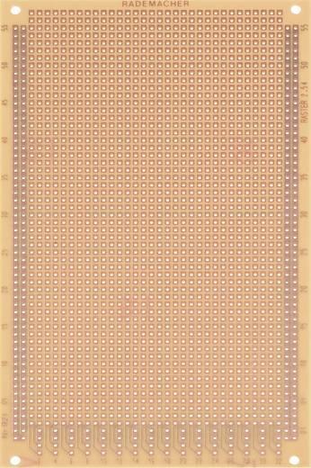 Experimentierplatine Hartpapier (L x B) 160 mm x 100 mm 35 µm Rastermaß 2.54 mm WR Rademacher WR-Typ 921 Inhalt 1 St.