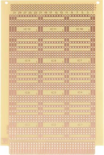 Experimentierplatine Hartpapier (L x B) 160 mm x 100 mm 35 µm WR Rademacher WR-type 932 Inhalt 1 St.