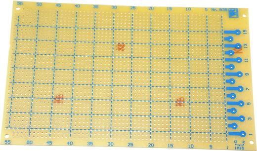Experimentierplatine Hartpapier (L x B) 160 mm x 100 mm 35 µm Rastermaß 2.54 mm WR Rademacher WR-type 935 Inhalt 1 St.