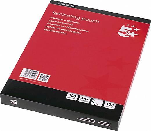 Laminierfolie 5Star DIN A4 125 micron glänzend mit Abheftrand 100 St.