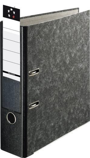 5 Star Ordner Premium Wolkenmarmor für DIN A4 schwarz 80 mm