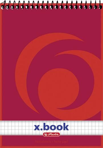 Herlitz Spiralnotizblock A5/50 Blatt kariert/110536 DIN A5 70 g/qm