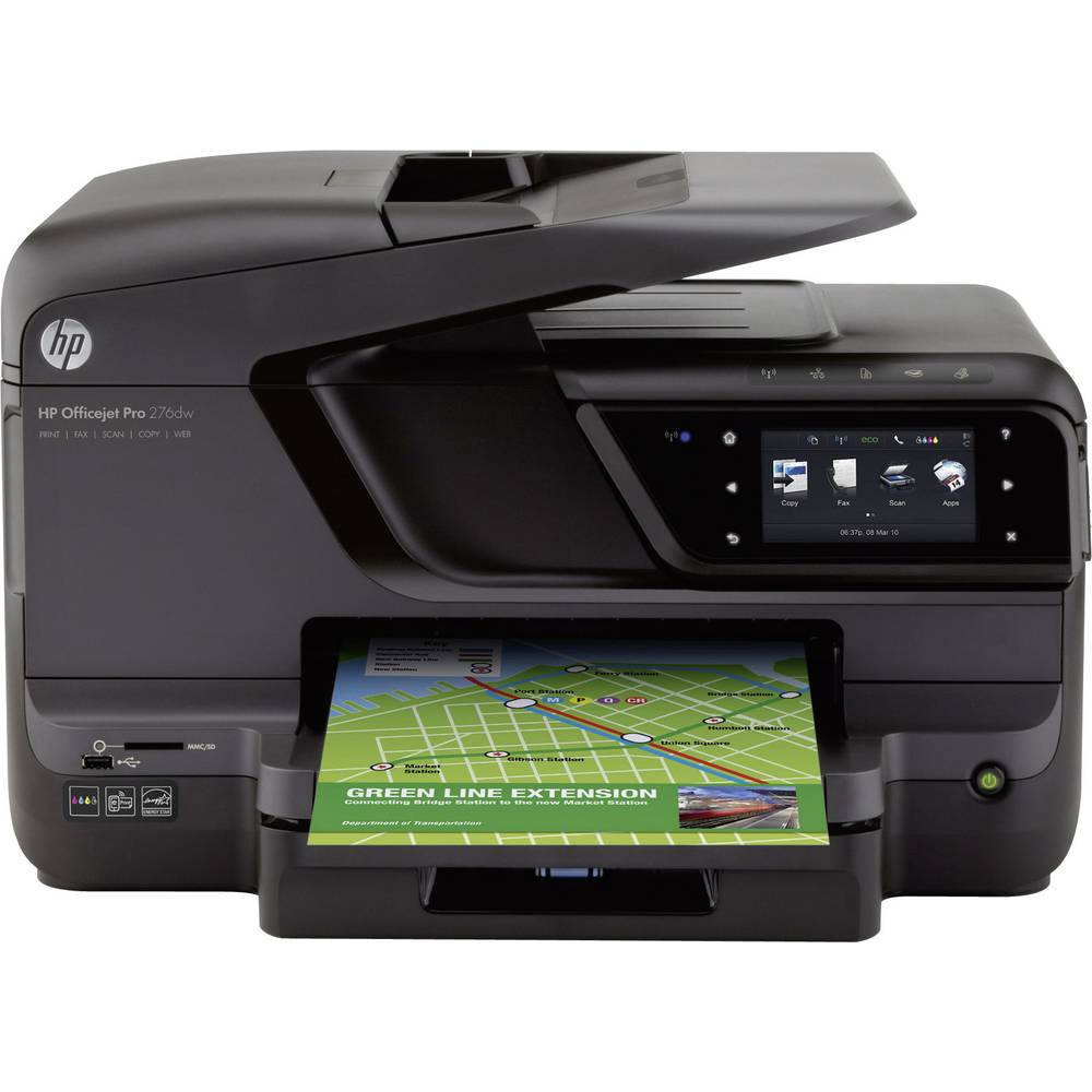 hp officejet pro 276dw tintenstrahl multifunktionsdrucker drucker scanner kopierer fax lan. Black Bedroom Furniture Sets. Home Design Ideas