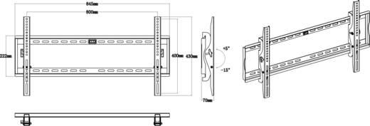 "TV-Wandhalterung 106,7 cm (42"") - 203,2 cm (80"") Neigbar SpeaKa Professional 527503"