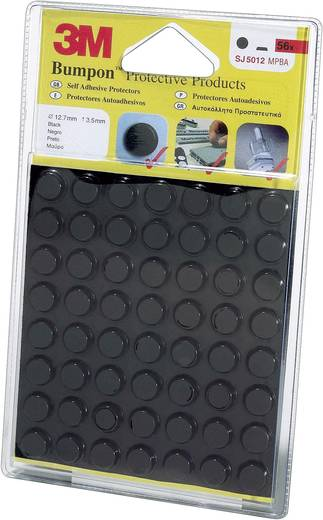 Gerätefüße selbstklebend, rund Schwarz (Ø x H) 12.7 mm x 3.5 mm 3M SJ 5012 MPBB 56 St.