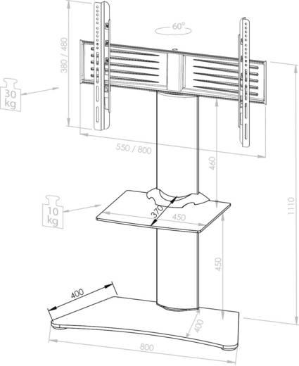 """TV-Standfuß 55,9 cm (22"""") - 94,0 cm (37"""") Schwenkbar VCM Morgenthaler Findal"""