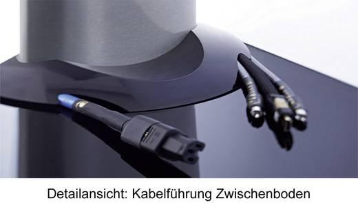 """VCM TV Standfuß """"Bilano Schwarz"""" Schwarzglas mit Zwischenboden inkl. Rollen"""