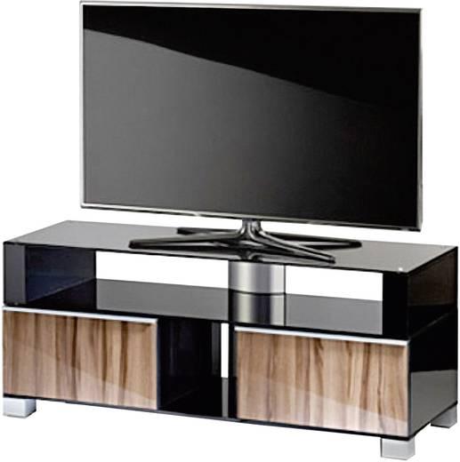 vcm tv m bel porano 120 front milano korpus schwarzlack inkl rollen kaufen. Black Bedroom Furniture Sets. Home Design Ideas