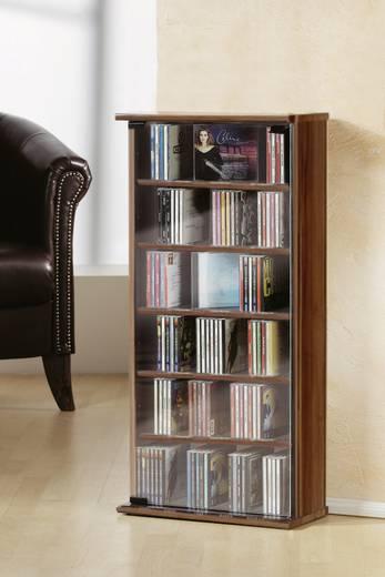 "VCM CD/DVD Turm ""Vetro"" Nussbaum"