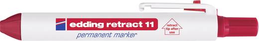 edding Permanent Marker-RETRACT 11 rot