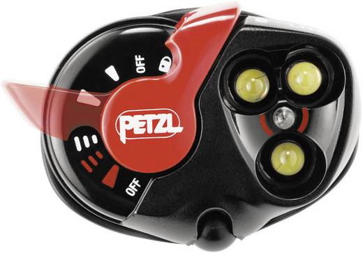 Petzl Für EX-Zonen: 2, 22 LED INERIS06ATEX3014X E02P3 High > 55 h · Low > 70 h · Blinklicht > 75 h · Blinklicht rot > 30 h Rot, Schwarz