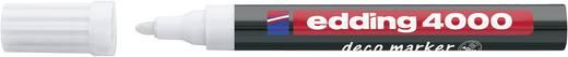 Deco-Marker Edding 4000 DECO Weiß Rundform 2 - 4 mm 1 St.