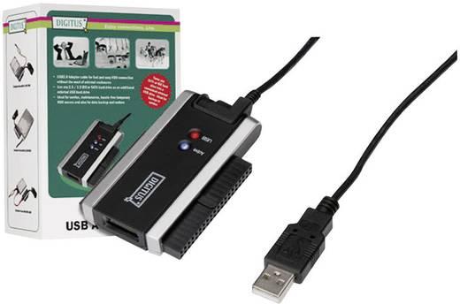 USB 2.0 Adapter [ IDE-Buchse 40pol., SATA-Kombi-Buchse 7+15pol. - USB 2.0 Stecker A] Schwarz/Grau Digitus