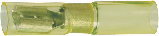 Flachsteckhülse mit Schrumpfschlauch Steckbreite: 6.3 mm Steckdicke: 0.8 mm 180 ° Vollisoliert Gelb DSG Canusa 7934300102 1 St.