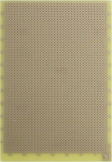 Experimentierplatine Epoxyd (L x B) 160 mm x 100 mm 35 µm Rastermaß 2.54 mm WR Rademacher WR-Typ 832-EP Inhalt 1 St.