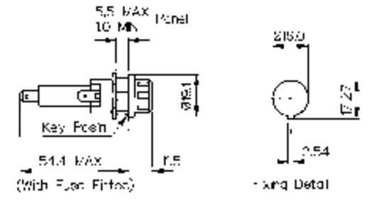 Sicherungshalter Passend für Feinsicherung 6.3 x 32 mm 13 A 250 V/AC Bulgin Sicherungshalter 1 St.