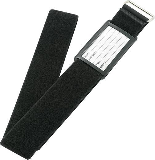 Klett-Kofferband mit Gurt Haft- und Flauschteil (L x B) 2000 mm x 60 mm Schwarz VF50/2MBK 1 St.