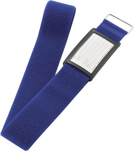 Klett-Kofferband mit Gurt Haft- und Flauschteil (L x B) 2000 mm x 60 mm Blau VF50/2MBL 1 St.