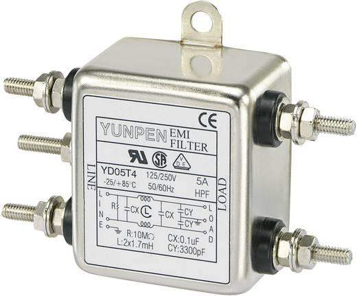 Entstörfilter 250 V/AC 5 A 1.7 mH (L x B x H) 50 x 85.3 x 28.5 mm Yunpen YD05T4 1 St.