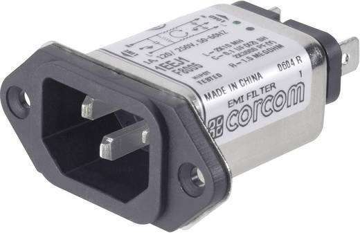 Netzfilter mit Kaltgerätebuchse 250 V/AC 6 A 465 mH TE Connectivity 6609006-9 1 St.