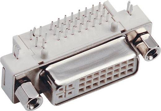 DVI-Steckverbinder Buchse, Einbau horizontal Polzahl: 29 Silber BKL Electronic 0909002 1 St.