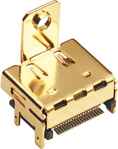 HDMI-Steckverbinder Buchse, Einbau horizontal Polzahl: 19 Gold BKL Electronic 0907010 1 St.