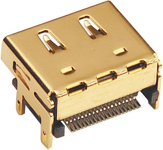 HDMI-Steckverbinder Buchse, Einbau vertikal Polzahl: 19 Gold BKL Electronic 907008 1 St.
