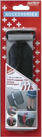 Klett-Kofferband mit Gurt Haft- und Flauschteil (L x B) 2000 mm x 50 mm Grau Fastech 922-0822 1 St.