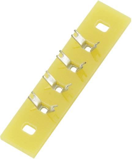 Lötleiste einreihig Polzahl Gesamt 4 Epoxyd (L x B x H) 36 x 9 x 1.5 mm Conrad Components 1 St.