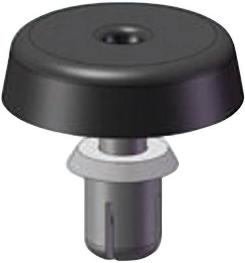 Richco FSR-6 Gehäusefuß mit Spreizbefestigung Polyamid Schwarz 1 St.