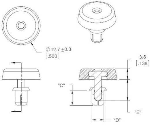 Gehäusefuß mit Spreizbefestigung Polyamid Schwarz Richco FSR-5 1 St.
