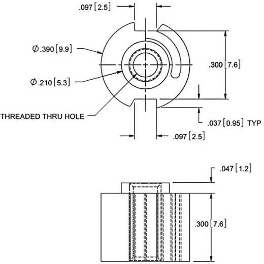 Plattenbefestigung Polyamid Schwarz (Ø x H) 9.9 mm x 8.8 mm Richco SEI-2 1 St.