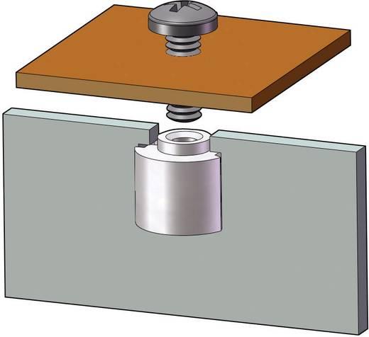 Plattenbefestigung Polyamid Schwarz (Ø x H) 9.9 mm x 8.8 mm Richco SEI-1 1 St.