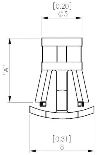 Stützbolzen Flachkopf Polyamid Abstandsmaß 14 mm Richco RLCBSB-14-01 1 St.