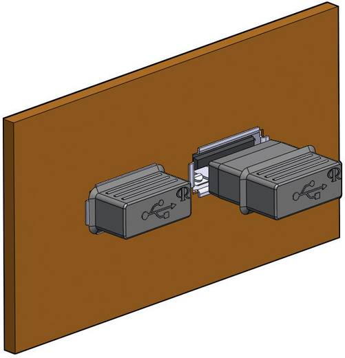 Abdeckkappe USB-A Silikon, Kautschuk Schwarz Richco CP-USB-A 1 St.