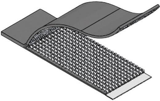 Klettkabelbinder zum Aufkleben Haft- und Flauschteil (L x B x H) 52.3 x 19.8 x 1.5 mm Schwarz Richco RKWFA-16-300 1 St.