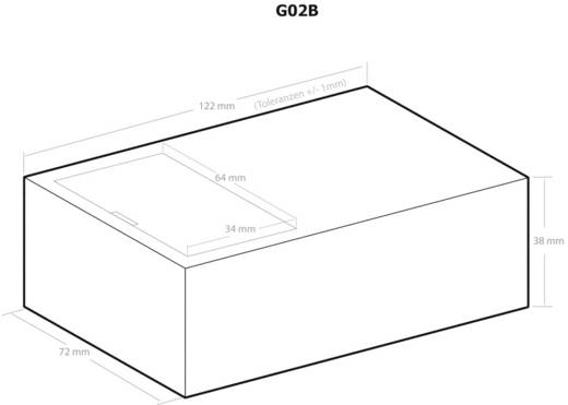 Kemo G02B Universal-Gehäuse 123 x 72 x 39 Kunststoff Schwarz 1 St.