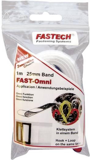 Klettband zum Aufnähen Haft- und Flauschteil (L x B) 1000 mm x 25 mm Weiß Fastech 671-010-Bag 1 m