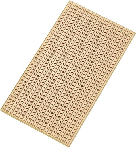 Europlatine Hartpapier (L x B) 90 mm x 50 mm 35 µm Rastermaß 2.54 mm Conrad Components SU527629 Inhalt 1 St.
