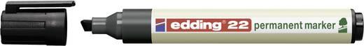 Permanent-Marker EcoLine Edding E22/1 Schwarz Keilform 1 - 5 mm 1 St.