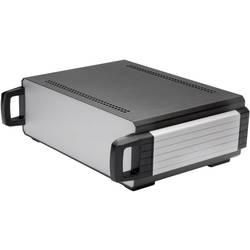 Stolní pouzdro hliníkové Axxatronic 31110002-CON, (d x š x v) 200 x 200 x 70 mm, antracitová